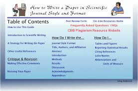how to write a paper in scientific journal style and format table