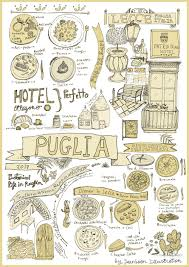 Apulia Italy Map by Italy Culinary Tour Illustrated Map Of Puglia Yaansoon