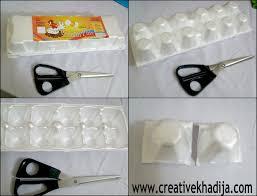 make egg carton flowers recycling