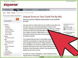 how to dispute an equifax credit report online 11 steps