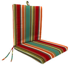 Replacement Patio Cushions Three Pieces Outdoor Cushion Sets With Brown Striped Pattern With