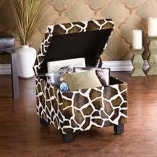 southern enterprises giraffe faux leather storage ottoman