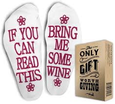 wine birthday gif amazon com funniest wine socks gift box