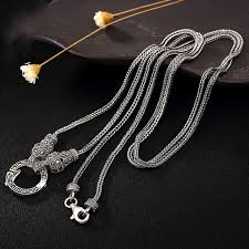 chain necklace men images 925 sterling silver marcasite foxtail chain necklace men women 16 jpg