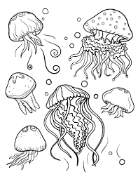 Free Coloring Pages Jellyfish | pin by muse printables on coloring pages at coloringcafe com