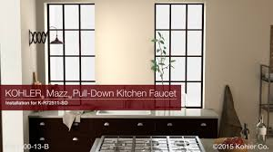 installation mazz pull down kitchen faucet youtube