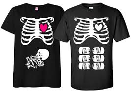 Halloween Maternity Shirts Long Sleeve by Amazon Com Non Maternity Halloween T Shirt Costume Rib Cage