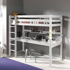 Bunk Bed Computer Desk High Bed With Desk Wayfair Co Uk