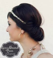 headband bun hair tutorial ma nouvelle mode