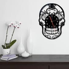 decorative wall clock unique skull decorative wall clock