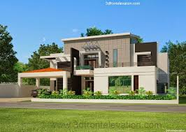 3d front elevation com 2 kinal house plan design in lahore