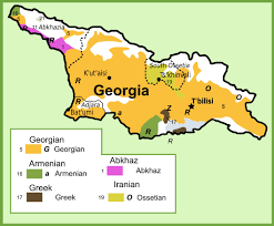 Ethnic Map Of Europe by Georgia Maps Maps Of Georgia Country
