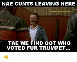 Scottish Meme - nae cunts leaving here scottish memes and banter tae we find oot