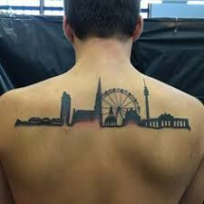 heartbeat city tattoo little forearm tattoo of the skyline of paris and london on dani