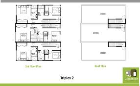 Triplex Floor Plans 206 208 22nd Ave Greenbuild Development Llc