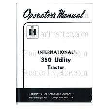 rep115 operators manual ih 350 utili