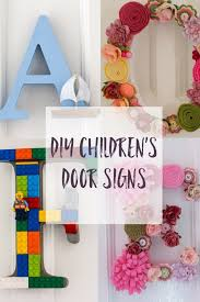 crafts for bedroom diy children s room door letters craft challenge 1 craft kids