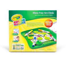 Kids Art Desk With Storage by Color Wonder Mess Free Art Desk Crayola