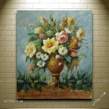 Dining Room Paintings by Oil Painting Of Still Life Flowers In Vase Portrait Classic