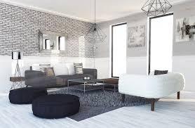 cuisine moderne noir et blanc deco salon noir et blanc ide dco noir et blanc salon trendy salon