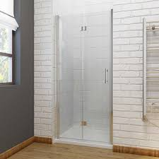 Shower Bifold Door Frameless Bifold 6mm Hinged Shower Doors Various Sizes