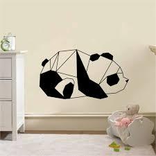 stickers panda chambre bébé stickers panda origami mignon autocollant muraux et deco