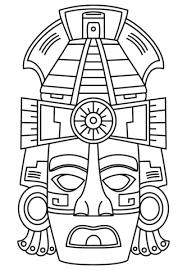 imagenes mayas para imprimir máscara de cara maya dibujo para colorear dibujos colorear