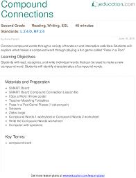 compound connections lesson plan education com
