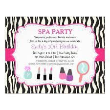 personalized pamper party invitations custominvitations4u com