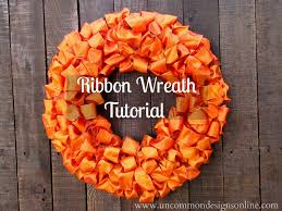 ribbon wreaths ribbon wreath