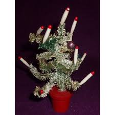 vintage artificial tree with candles vintageitem