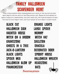french halloween printables family volley trick or treat scavenger hunt happy halloween