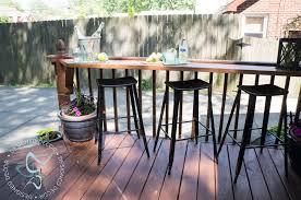 Diy Decks And Patios Build A Diy Flip Up Deck Bar Designed Decor