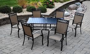 Portofino Patio Furniture Amazon Com Outdoor Innovations Portofino 7 Piece Aluminum Dining