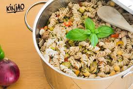 cuisiner des legumes salade de pâtes aux grillons et aux légumes grillés kinjao