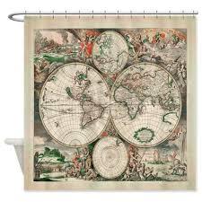Shower Curtain World Map World Map Shower Curtain Wet Shower Curtains