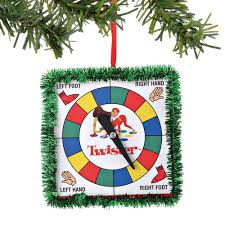 dept 56 hasbro twister board game toy christmas ornament