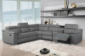 Living Room Sectionals With Chaise Furniture Amazing Leather Reclining Sectional Sofa Design