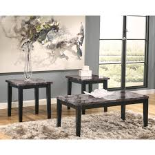 Ashley Furniture Living Room Tables Signature Design By Ashley Maysville Black Occasional Table Set