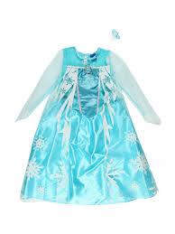 girls disney frozen elsa dress up set peacocks