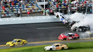 injuries as debris flies into daytona stands during fiery nascar