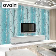 popular birch tree wallpaper buy cheap birch tree wallpaper lots teal blue modern embossed birch tree woods wallpaper colorful murals forest wall paper roll for living