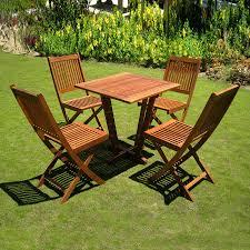 Wood Patio Dining Set - shop international caravan royal tahiti 5 piece balau bistro patio