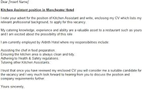 kitchen assistant cover letter example forums learnist org