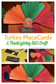 thanksgiving craft turkey place cards for the kids mommy u0027s bundle