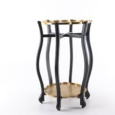 metal platters asian inspired folding table stand with metal platters ebth