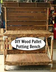 diy pallet work table diy recycled wood pallet potting bench and tool holder pallet