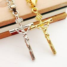crucifix jewelry wholesale dhl wholesale men women jewelry gold silver chains cross