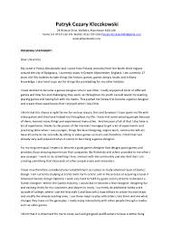 ha6 task 3 personal statement