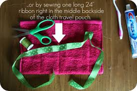 whimsy love diy washcloth travel pouch